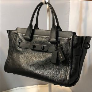 Coach New York Black Leather Satchel